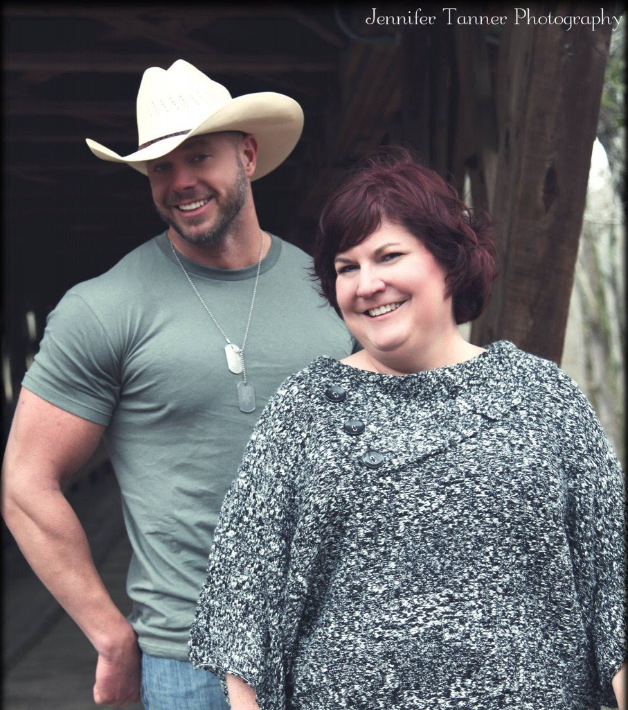 Photograph of author Lorraine Britt, pictured with her husband