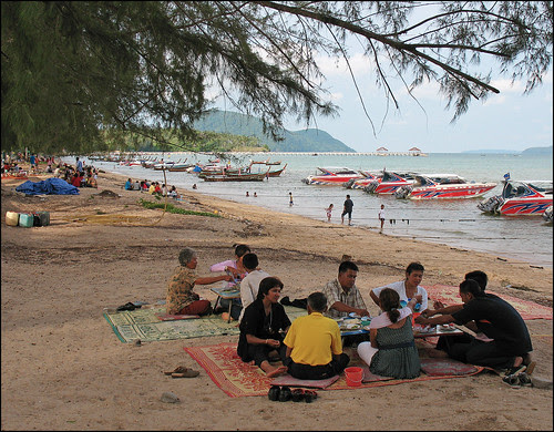 Rawai beach is works life on the southward side of <a href=
