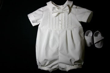 Baby Boy Blessing Outfit / Baby Boy Christening Outfit SET (outfit, bowtie and shoes)