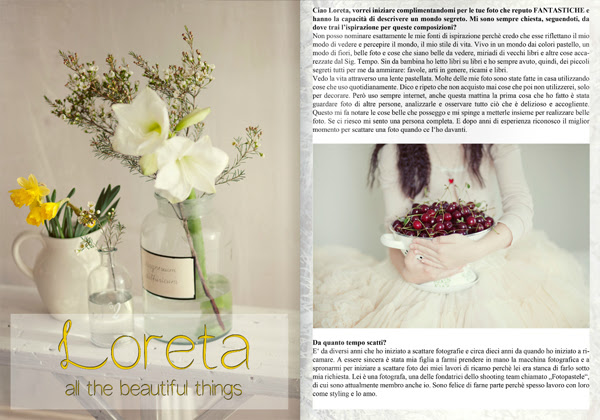 "I am very happy and honored I got published by a wonderful italian magazine ""Euphoria"""