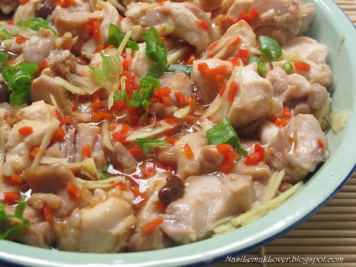 Steamed fermented soy bean chicken