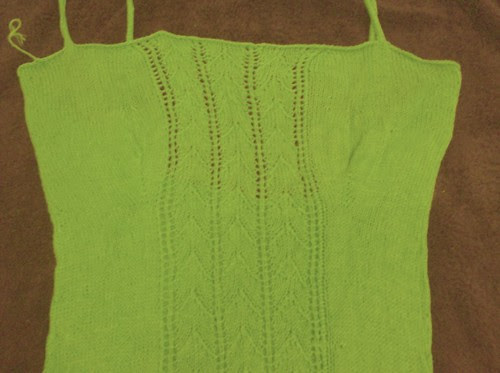 Close up of shaping on bamboo cami