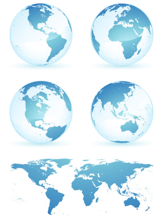 eps format including jpg preview keyword vector earth world map vector