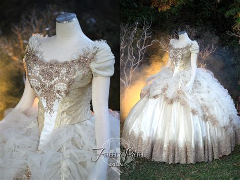 Beauty and the Beast Wedding Gown by Lillyxandra on DeviantArt