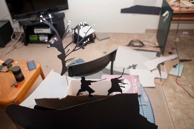 Paper Cut Action Silhouettes by David A. Reeves shadows paper
