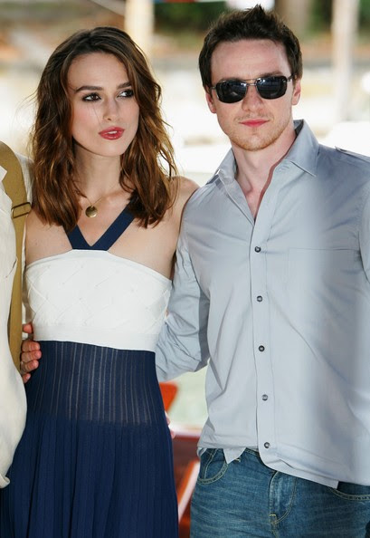 James McAvoy and Keira Knightley - 64th Venice Film Festival:'Atonement'