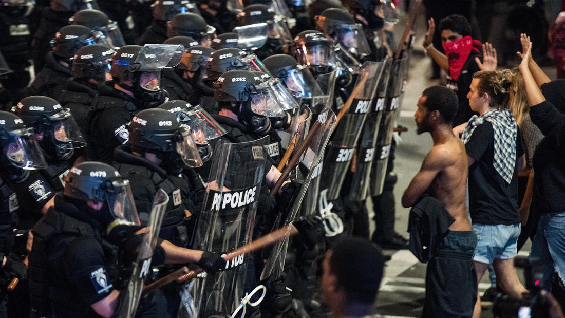Charlotte shooting protest