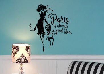 By Audrey Hepburn Paris Is Always A Good Idea Wall Decal Sticker 21