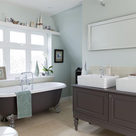 Large traditional-style family bathroom | Family bathroom ...