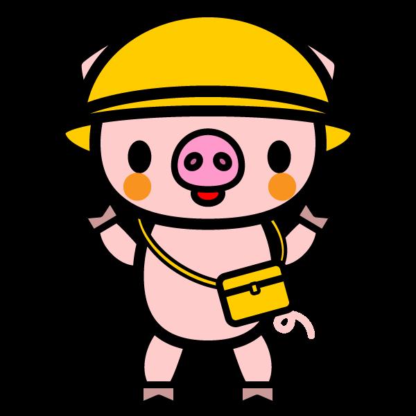 かわいい保育幼稚園児豚の無料イラスト商用フリー オイデ43