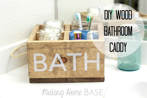 DIY Wooden Bathroom Caddy