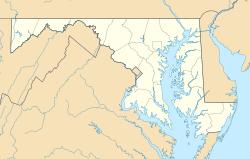 Localização de Washington, D.C. em Maryland