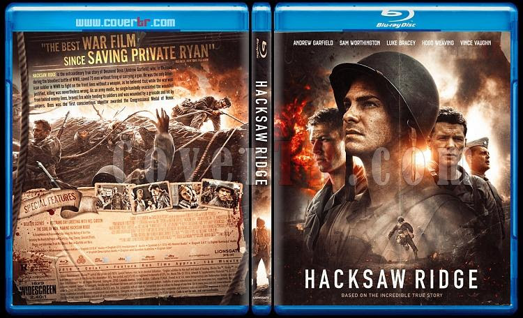 Hacksaw Ridge Custom Bluray Cover English 2016 Covertr