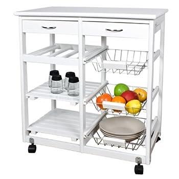 pas cher meuble rangement cuisine roulant en bois desserte roulettes 02 tiroirs 03. Black Bedroom Furniture Sets. Home Design Ideas