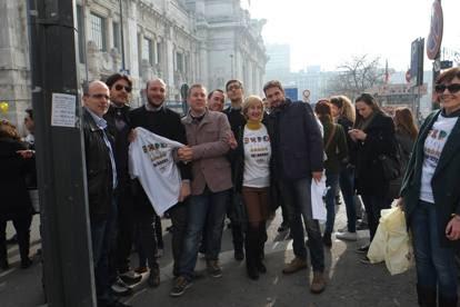 La delegazione del M5S in visita ai cantieri Expo