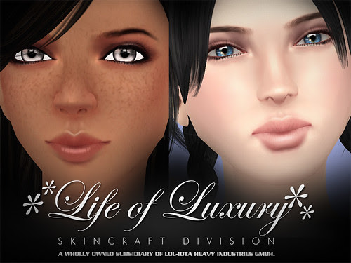 """✻✻LIFE of LUXURY✻✻ Eloh Eliot Gorgeous Masterskinworks Skin Collection 2008-2009 """"The Free ♥♥♥ Spirit of Gradient Mesh Years"""" (Female)"""