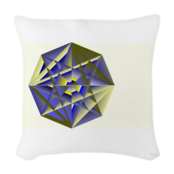 Crystal Key Woven Throw Pillow