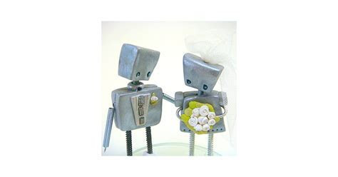 Robot Wedding Cake Toppers   POPSUGAR Tech