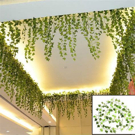 Boston Ivy Artificial Fake Leaf Garland Plant Vine Foliage