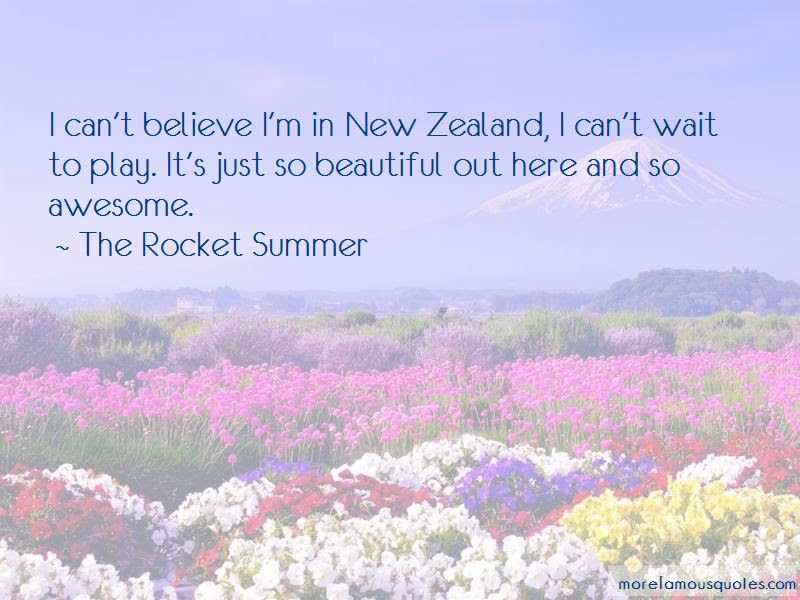 The Rocket Summer Quotes Top 11 Famous Quotes By The Rocket Summer