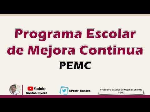 Programa Escolar de Mejora Continua (PEMC) 2020