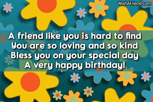 A Friend Like You Is Hard Friends Birthday Saying