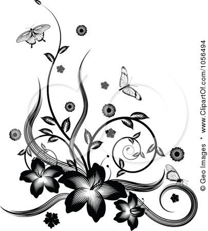 Free Border Design Black And White Butterfly Download Free Clip Art