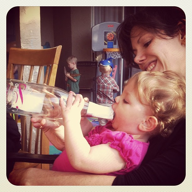 Baby girl likes her moscato. #parentingfail