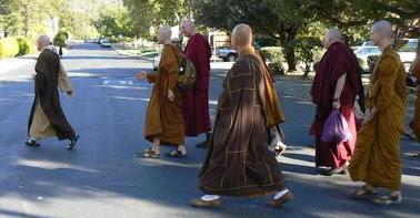 Sangha Walking various traditions Western gathering at CTTB