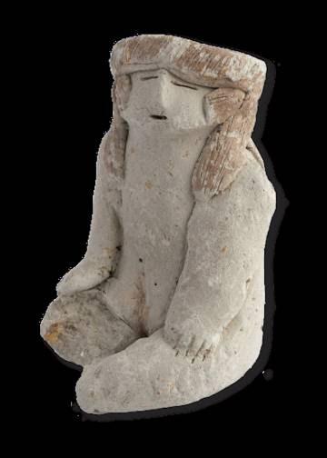 Estatuilla encontrada entre las ruinas de Caral.