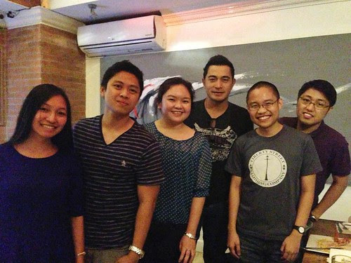 kat, john mark, anne jorice, cesar montano, myself, ronald