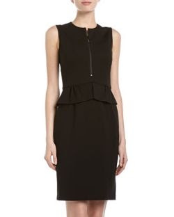 Catherine Catherine Malandrino Lisette Zip-Front Peplum Dress