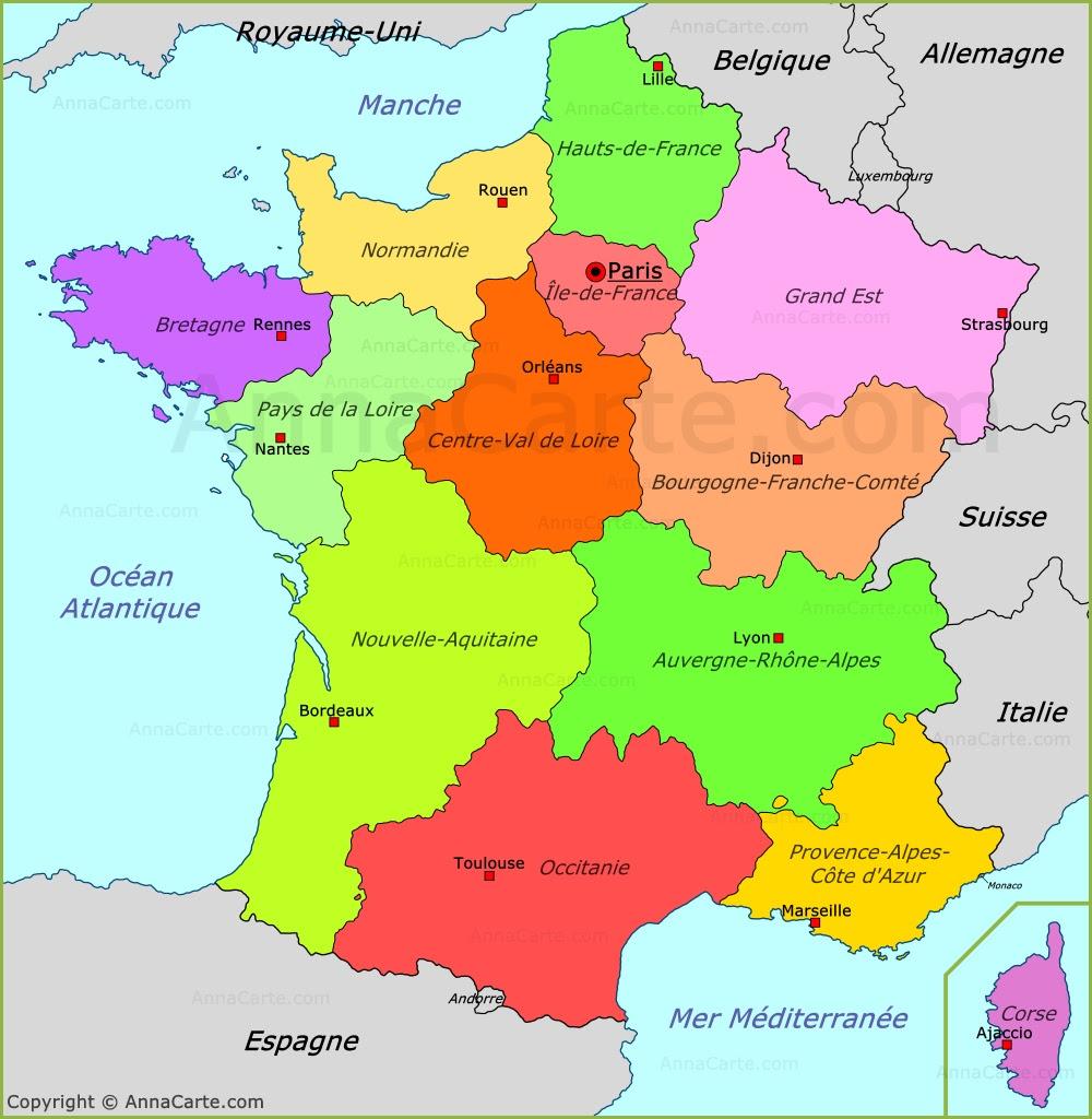 Carte France Plan France Annacartecom