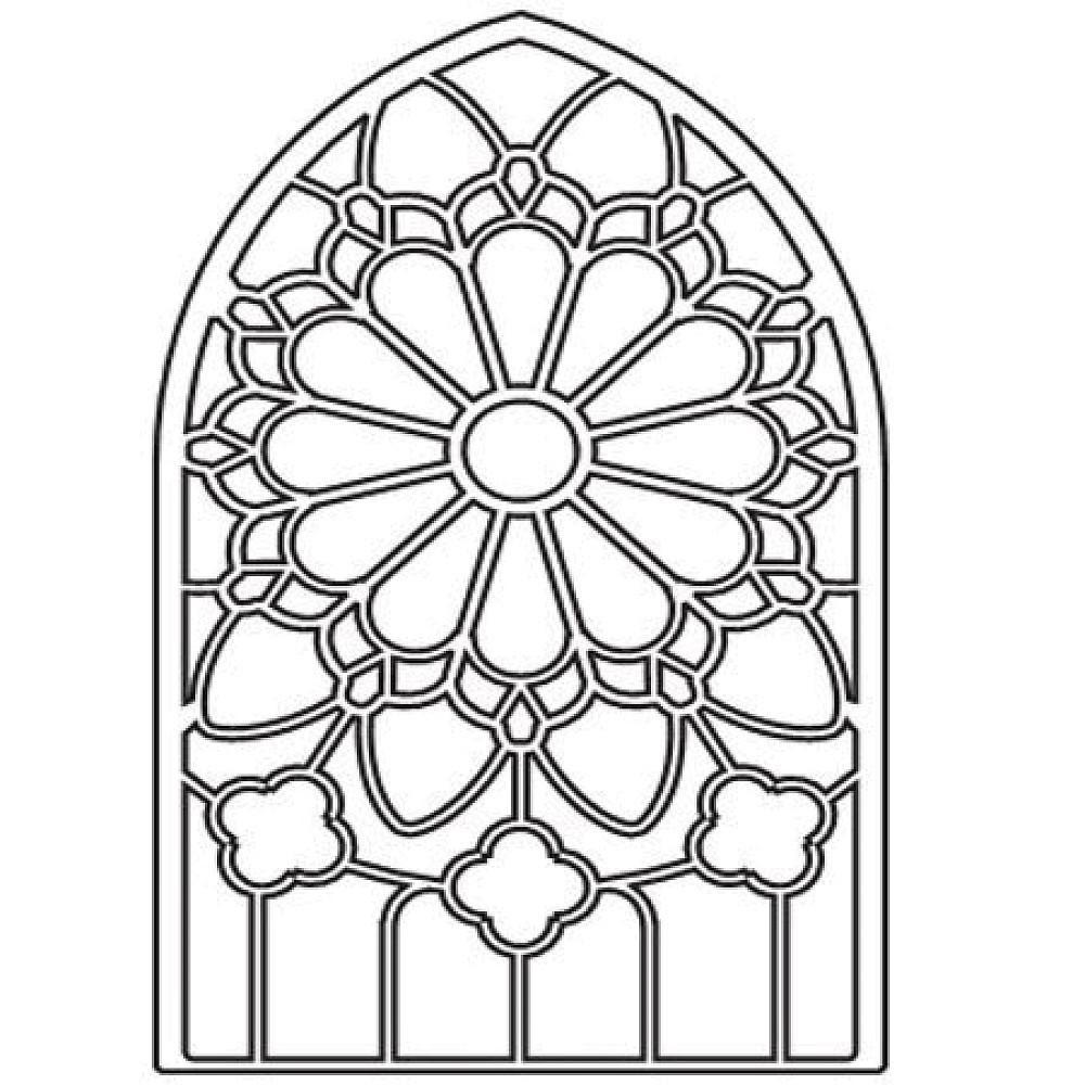 Coloriage vitrail