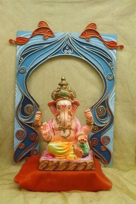 10 best Ganpati Decoration images on Pinterest   Fabric