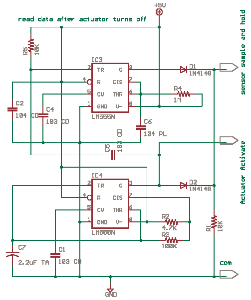 Schematics Of Delabs Or Gate With Two 555