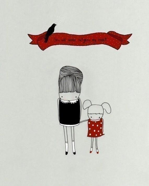 MY LITTLE GIRL - mom love art print daughter children new baby - studio mela