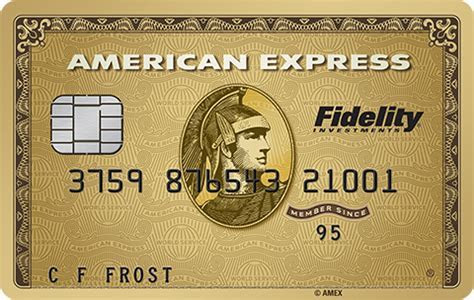 Fidelity American Express Gold Card to be phased out