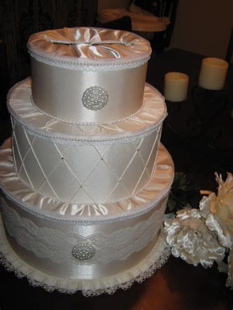 Bridal Satin and Lace Wedding Cake Card Box in 2019   My