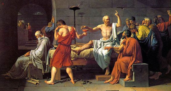 Morte di Socrate, di J. L. David, Metropolitan Museum Art di N.Y.