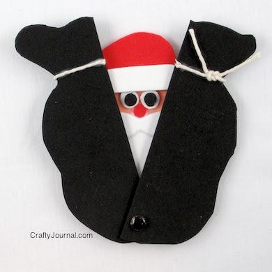 Peek a Boo Santa by Crafty Journal