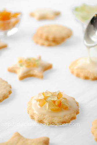 Biscotti con Glassa all'Arancia e Canditi-Candied Fruit and Iced Orange Cookies