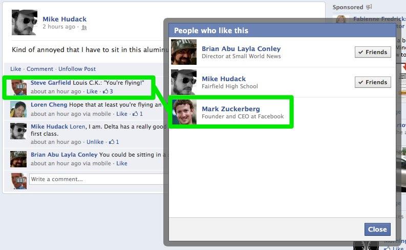 Mark Zuckerberg LIKES Me!