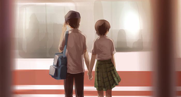 Cross Game Kou And Aoba Kiss