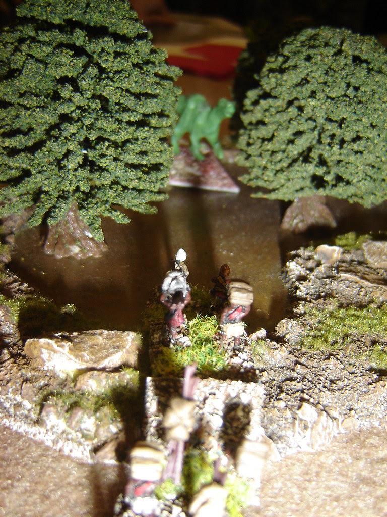 Other British column marches through forest