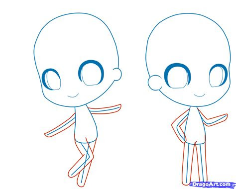 draw  chibi person step  step chibis draw