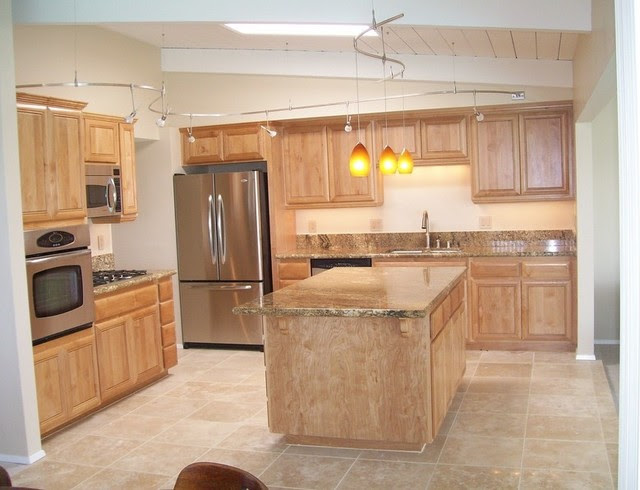 Kitchen remodel with Travertine tile floors - Traditional ...
