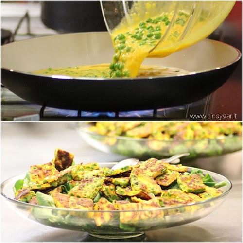 insalata con quadrotti frittata