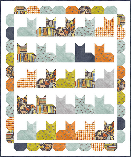 smokey and friends quilt by Wendy Sheppard