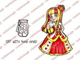 Visible Image Wonderland Queen of Hearts stamp set PB